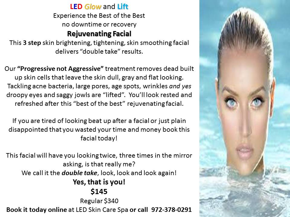 LED Glow and Lift facial