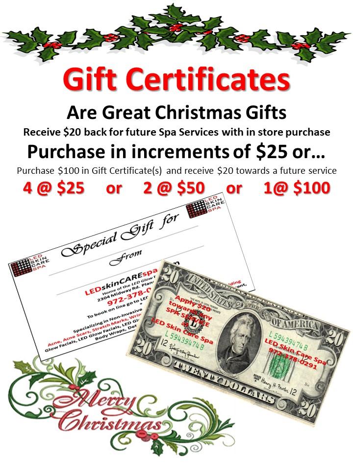 Gift Certificate LED Skin Care Spa